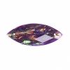 Resin Sew-on Dichroic Style 10pcs 12x30mm Navette Purple